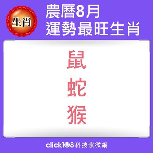 12生肖農曆8月運勢