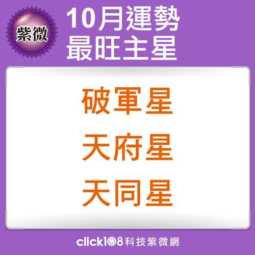 紫微14主星10月好運榜