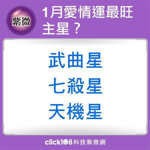 紫微14主星1月愛情運
