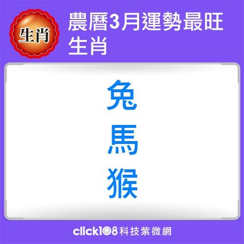 12生肖農曆3月運勢