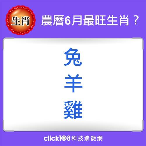 12生肖農曆6月運勢