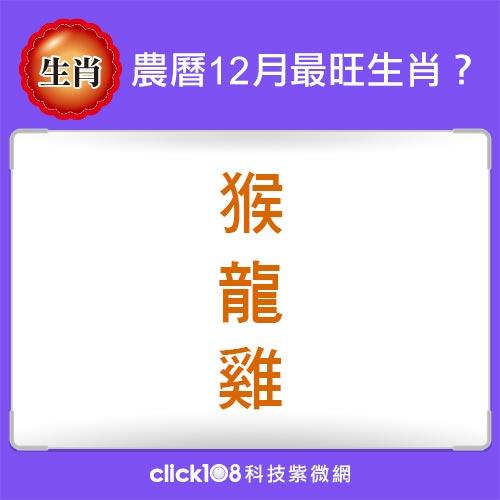 12生肖農曆12月運勢