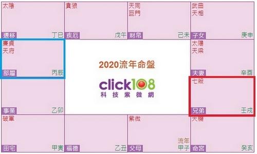 2020流年命盤圖