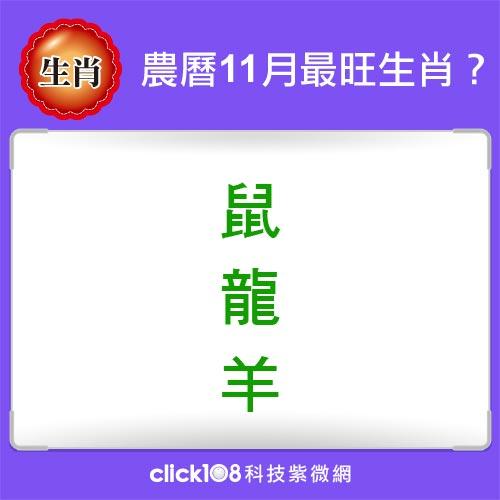 12生肖農曆11月運勢